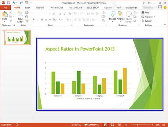how to change the size of powerpoint slide