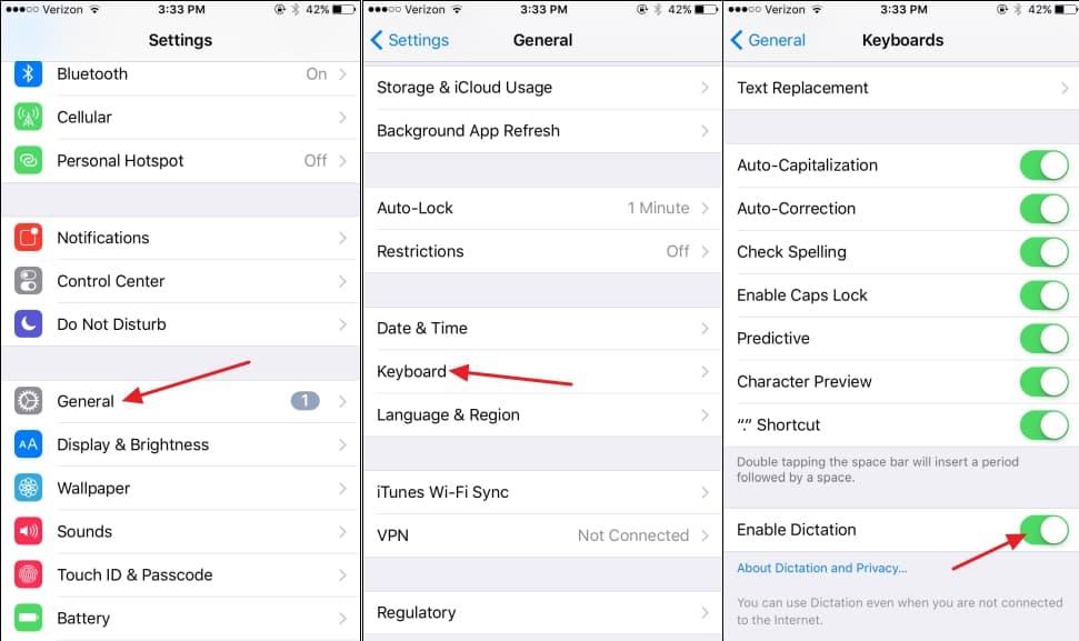 วิธีปิดไอคอนไมค์บนคีย์บอร์ด iPhone เพื่อสะดวกในการพิมพ์