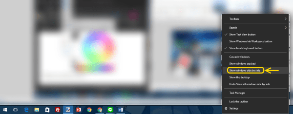 how to create a split screen in windows 10
