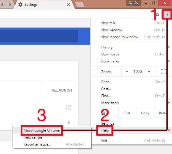 อัพเดท Google Chrome