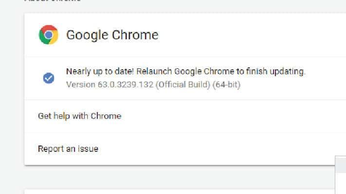 Google Chrome Update 2018