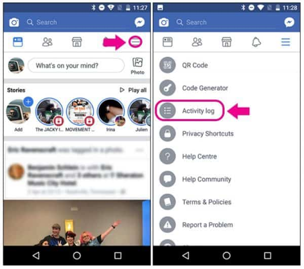 how to clear facebook messenger search history
