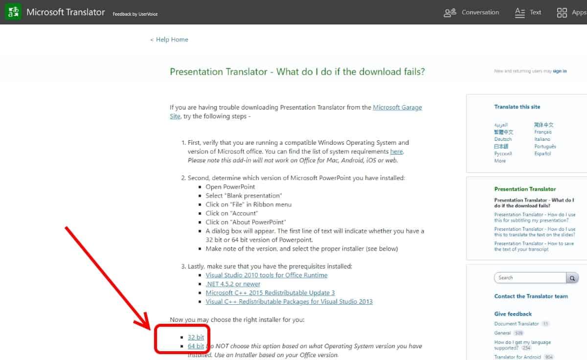 Translate Slides