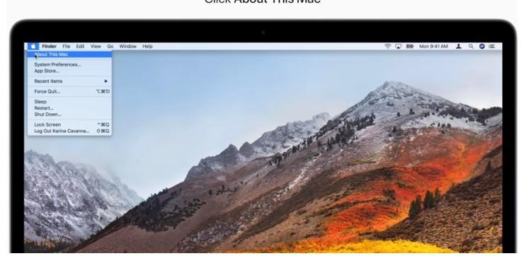 พื้นที่ว่างบนเครื่อง Mac