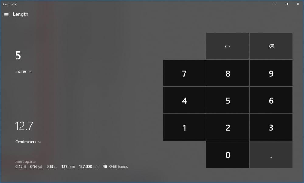 เครื่องคิดเลขบน Windows 10