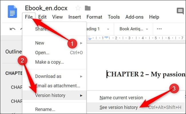 ไฟล์งาน Google Docs