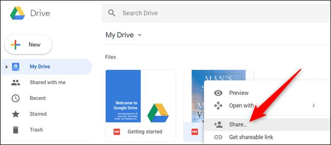 แชร์ Google Drive