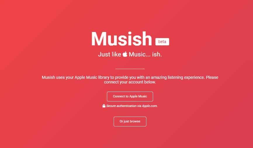 Apple Music บนเว็บเบราว์เซอร์
