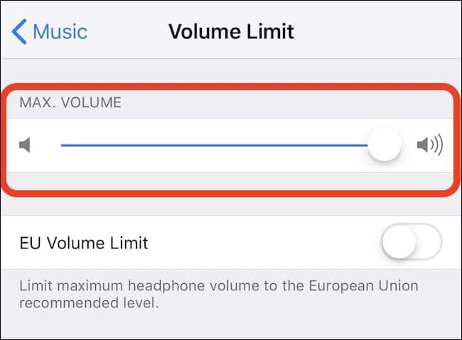 จำกัดระดับเสียง Apple Music
