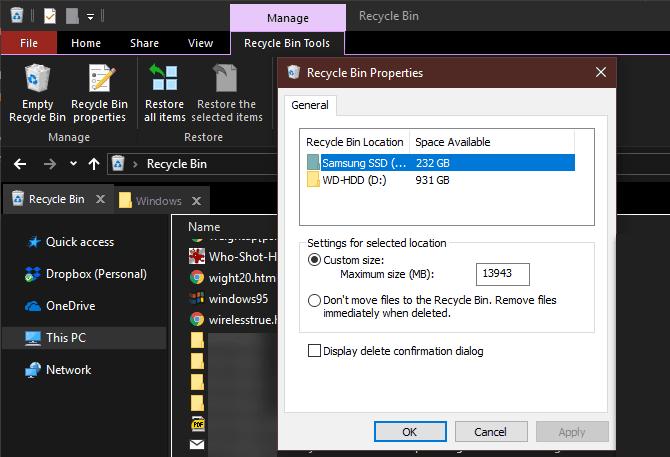 วิธีลบไฟล์ขยะ Windows10
