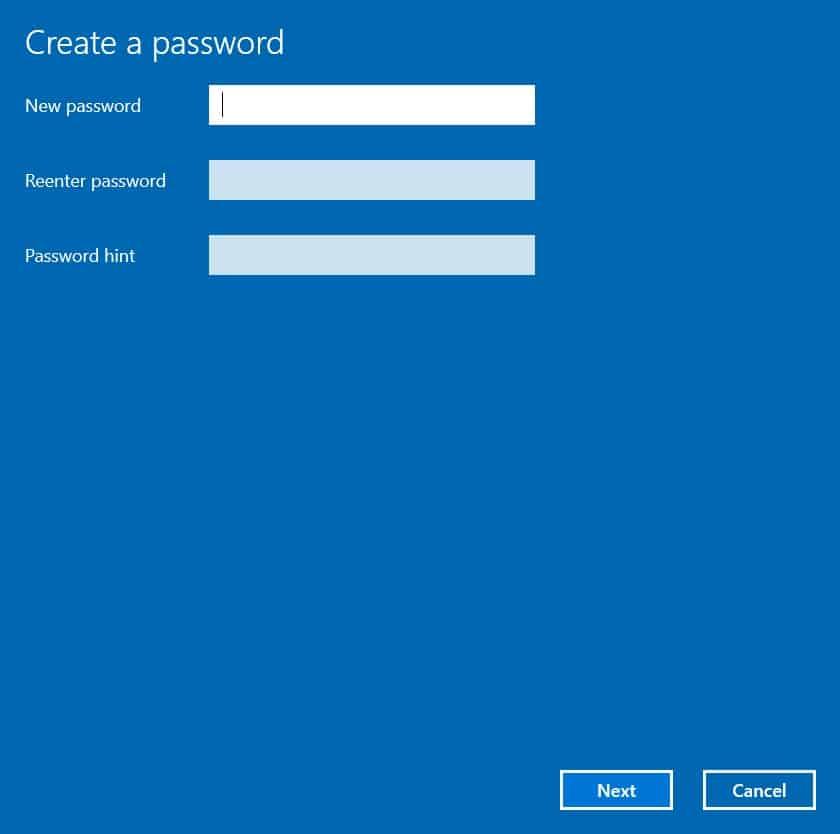 วิธีตั้งรหัสผ่าน Windows10