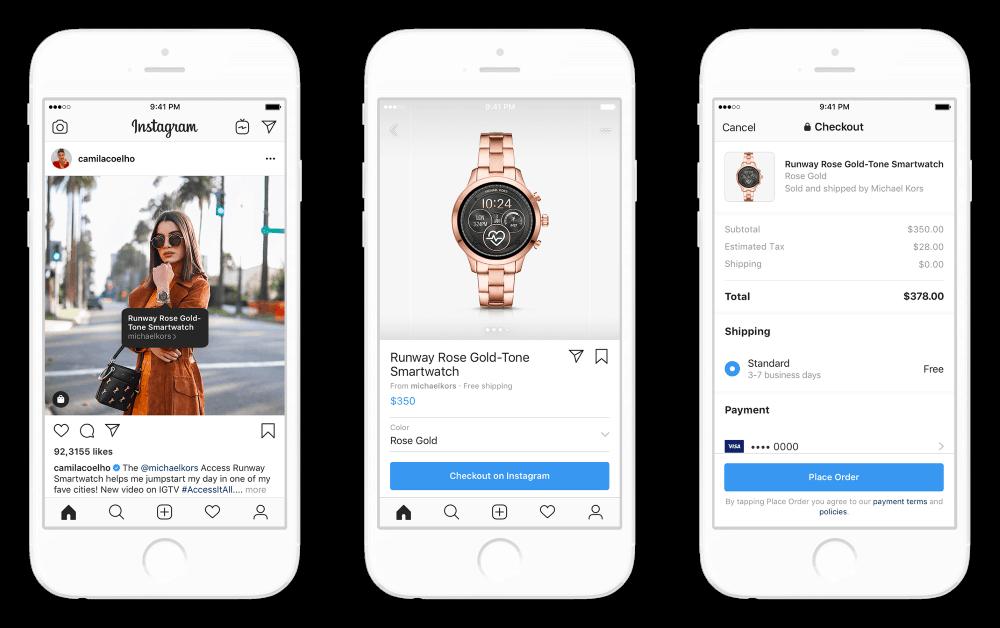 Instagram สามารถช้อปปิ้ง และบริจาคเงิน