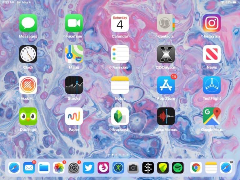 แคปหน้าจอ iPad