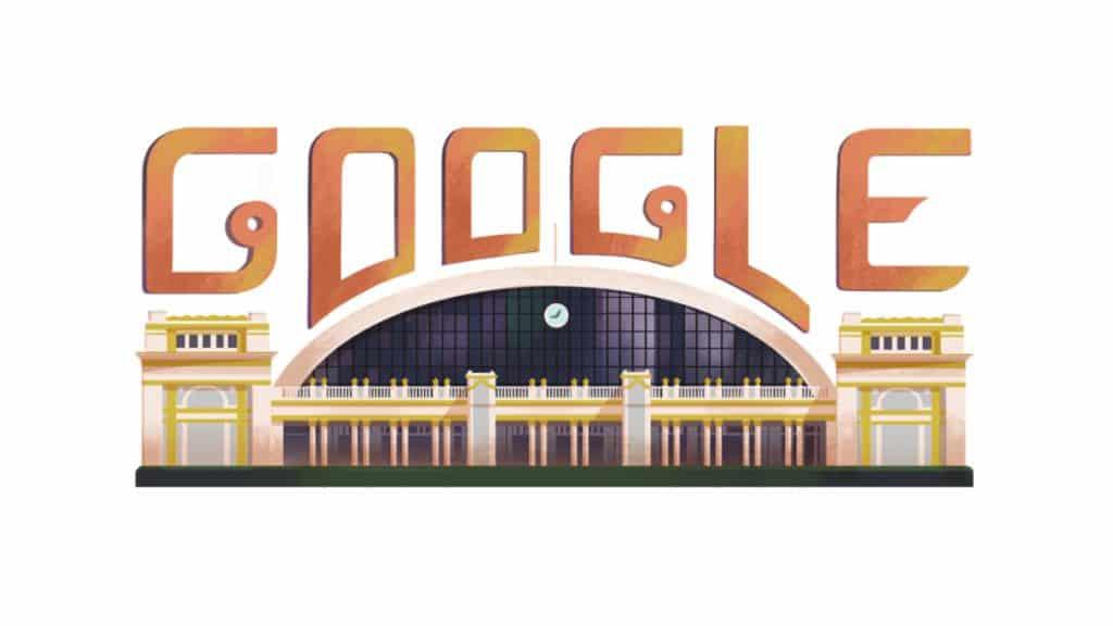 Google doodle รูปสถานีรถไฟหัวลำโพง