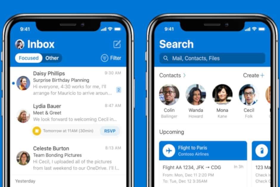 แอป outlook บน iOS รองรับ iCloud