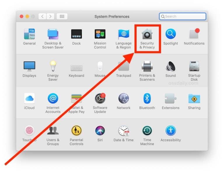 วิธีตั้งค่าปิดกล้อง Webcam บนเครื่อง Mac