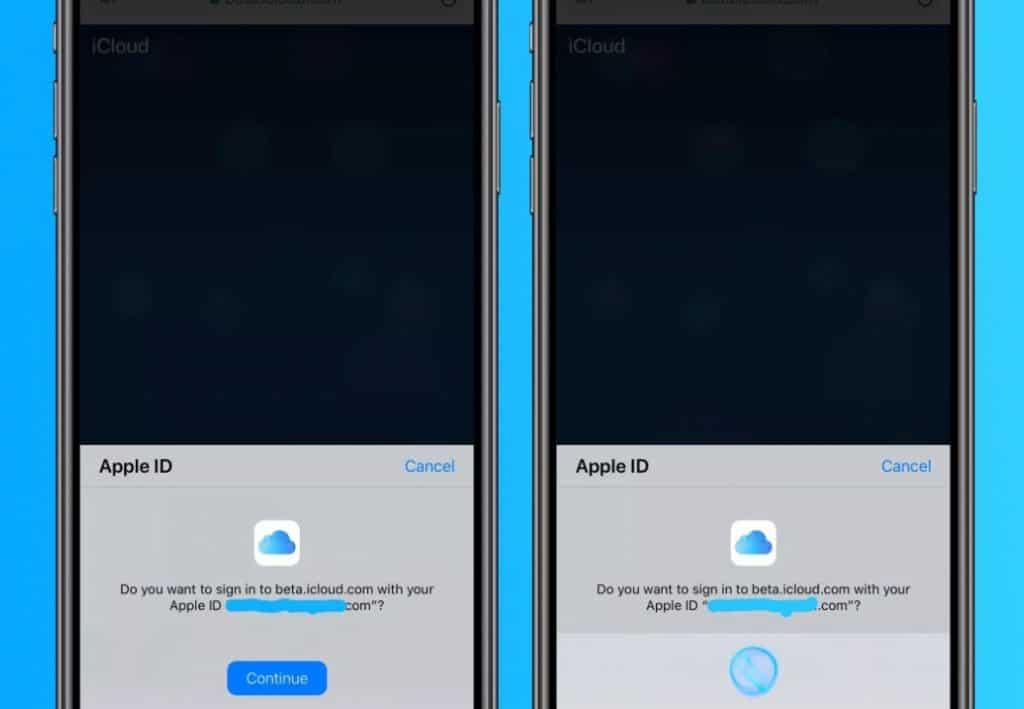 ทดสอบ Face ID และ Touch ID เข้าเว็บ iCloud