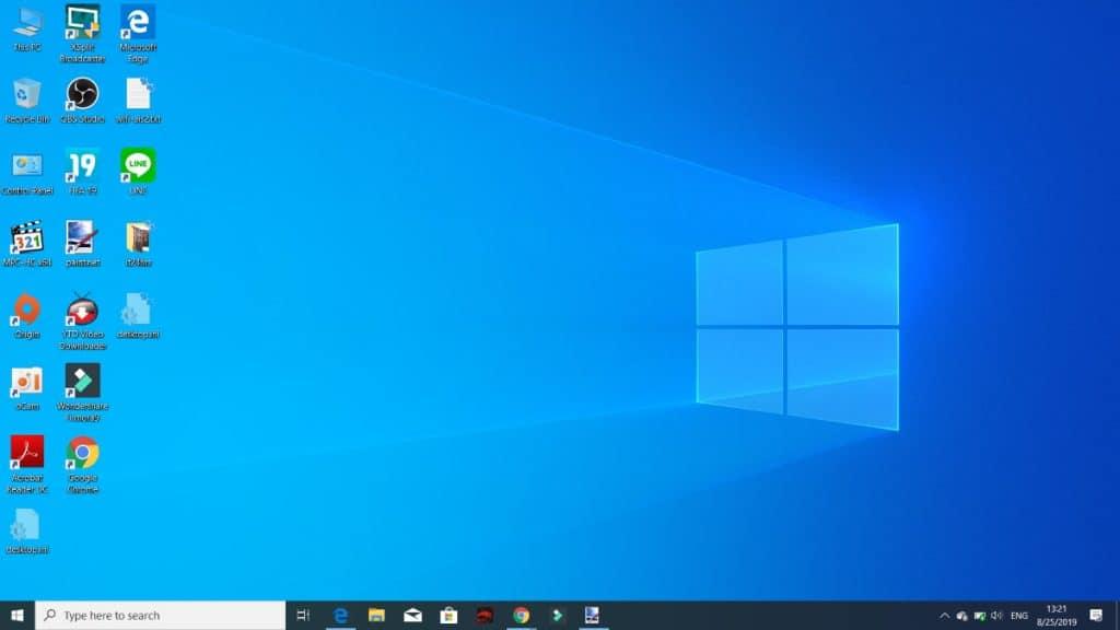 วิธีซ่อนไอคอน หน้า Desktop บน Windows 10 เปลี่ยนความรกเป็น