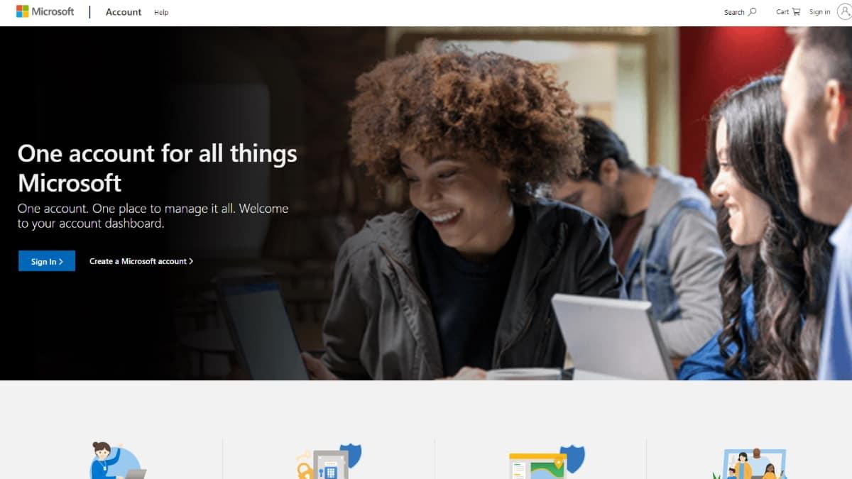 ภาพบัญชี Microsoft - จากเว็บ microsoft.com