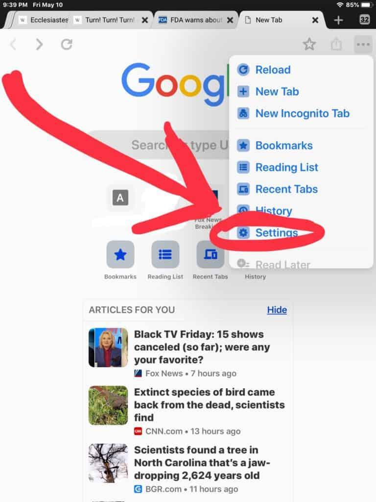 วิธีซ่อนบทความแนะนำ ในหน้าแรกของ Chrome