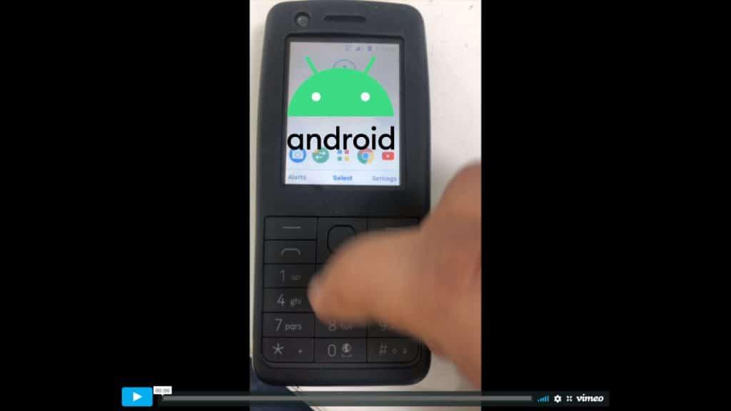 หลุด หน้าตา Android สำหรับฟีเจอร์โฟน