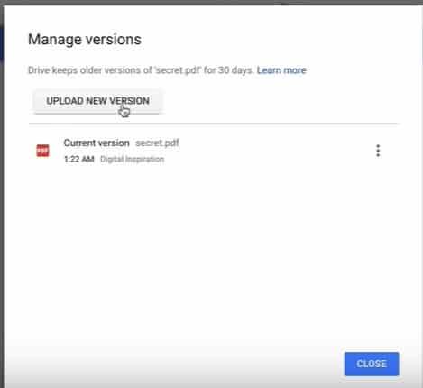 วิธีซ่อนไฟล์ใน Google Drive