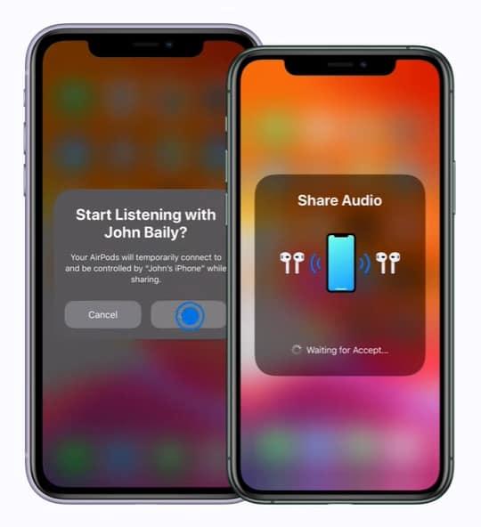 แชร์เสียง iPhone ให้หูฟังไร้สาย 2 ตัว