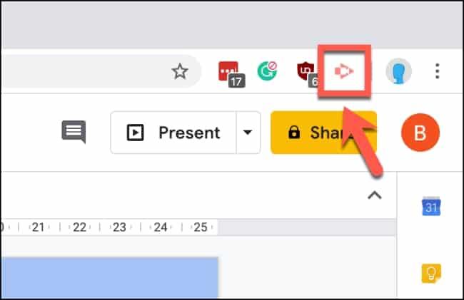 วิธีบันทึกหน้าจอ ลงบน Google Slides