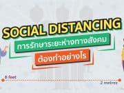 การรักษาระยะห่างทางสังคม Social Distancing