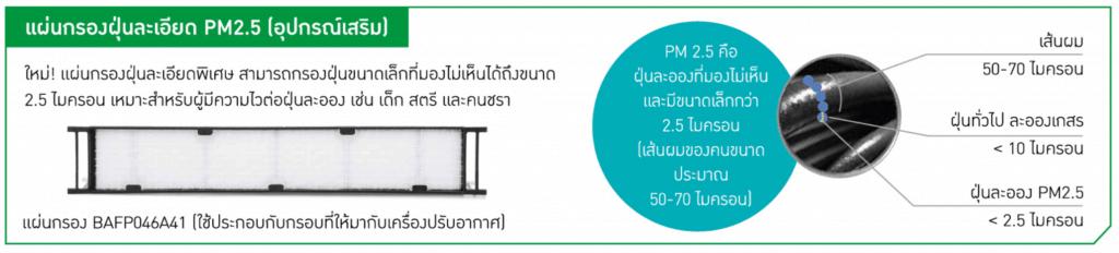 แผ่นกรองฝุ่น PM 2.5 อุปกรณ์เสริมแอร์ไดกิ้น (Daikin)