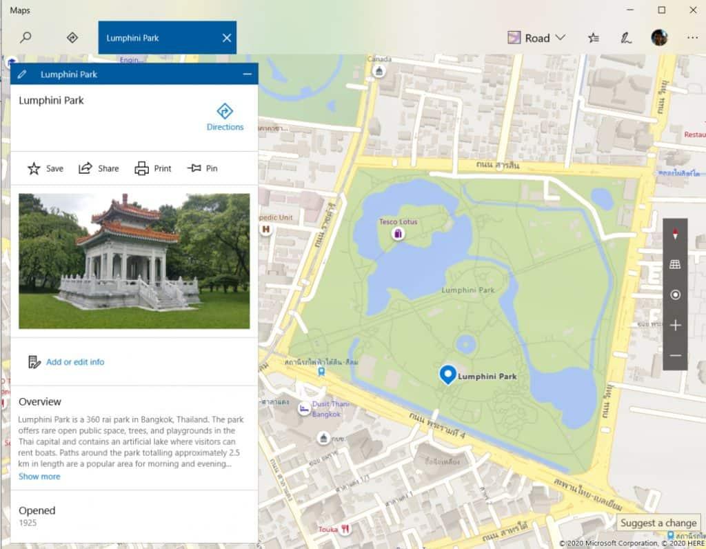 วาดบนแผนที่ ด้วยแอป Maps บน Windows 10