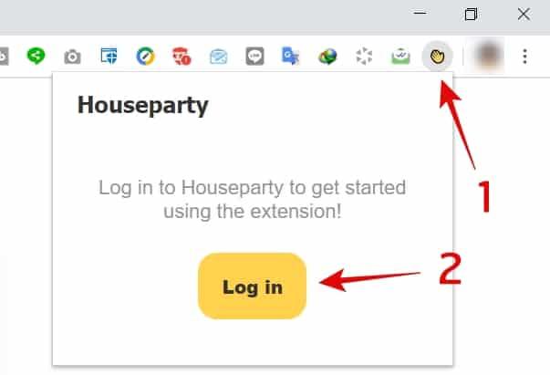 วิธีใช้ houseparty