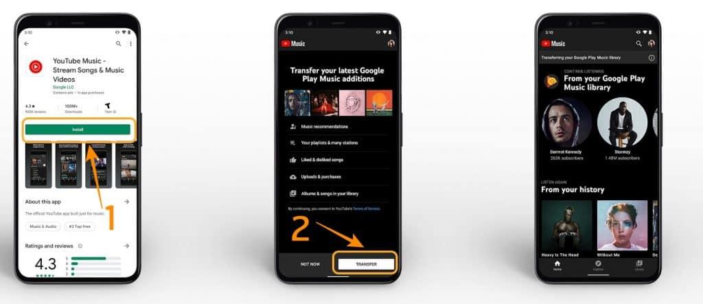 วิธีโอนย้าย Google Play Music ไปย้ง Youtube Music