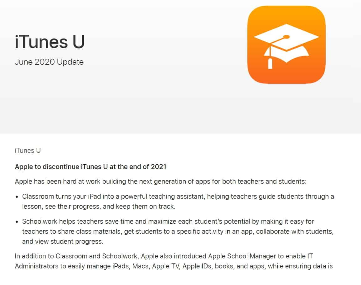 Apple เตรียมปิดให้บริการ iTunes U