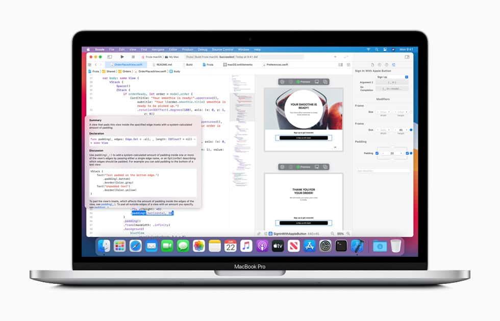 เครื่องมือสำหรับพัฒนาแอปบน iOS14