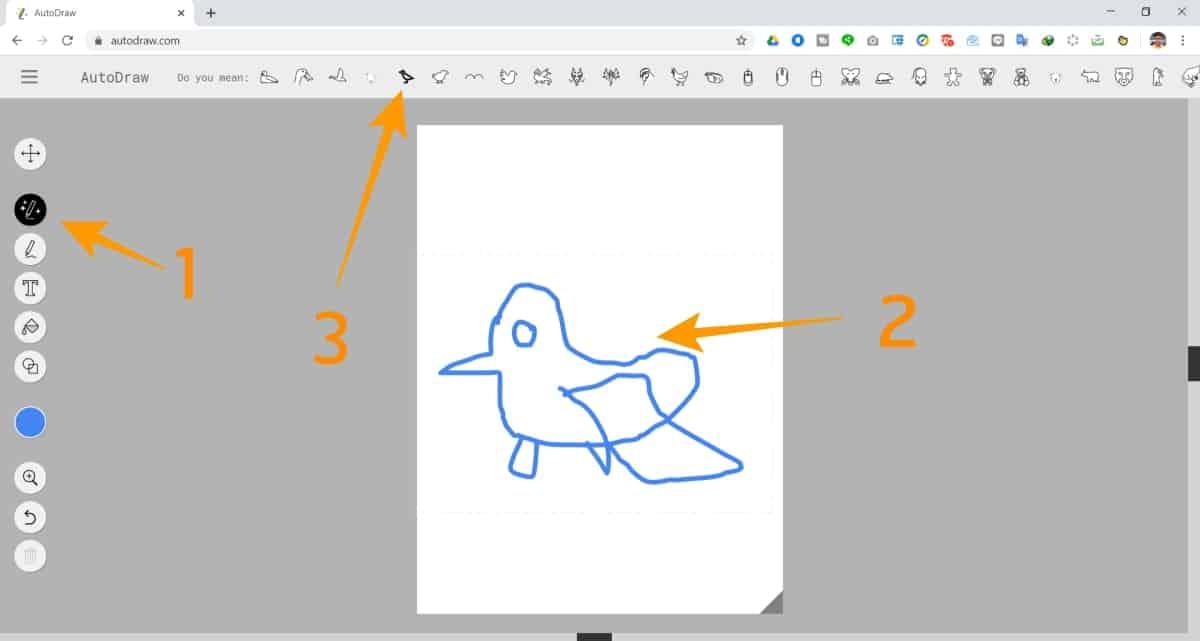 วิธีทำ Logo ผ่าน Autodraw