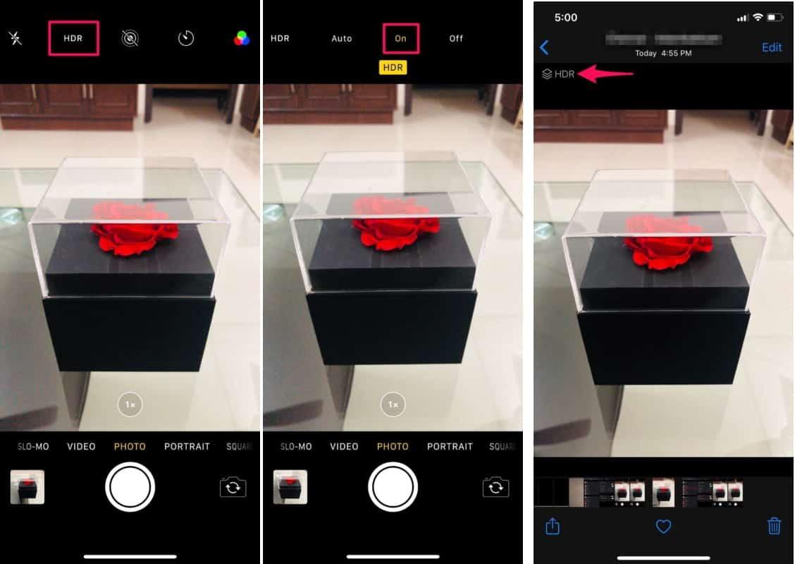 วิธีใช้ HDR บนกล้อง iPhone
