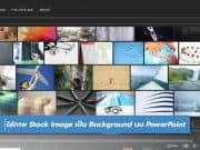 วิธีใส่ภาพ Stock Image เป็น Background