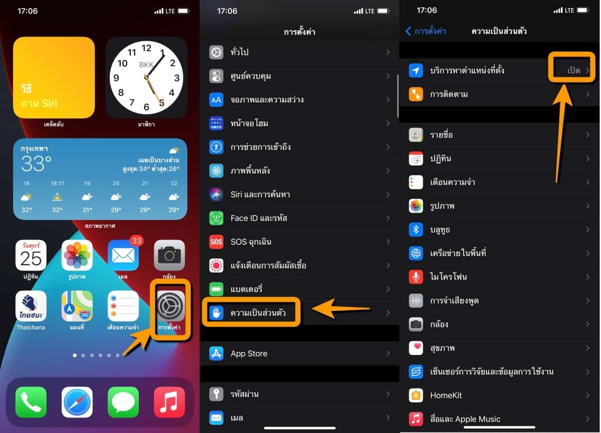 วิธีตั้งค่าความเป็นส่วนตัวบน iPhone iPad