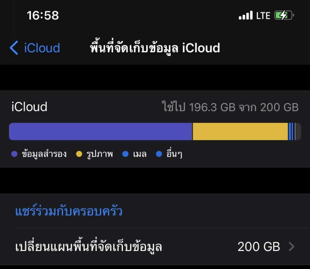 iCloud เต็ม