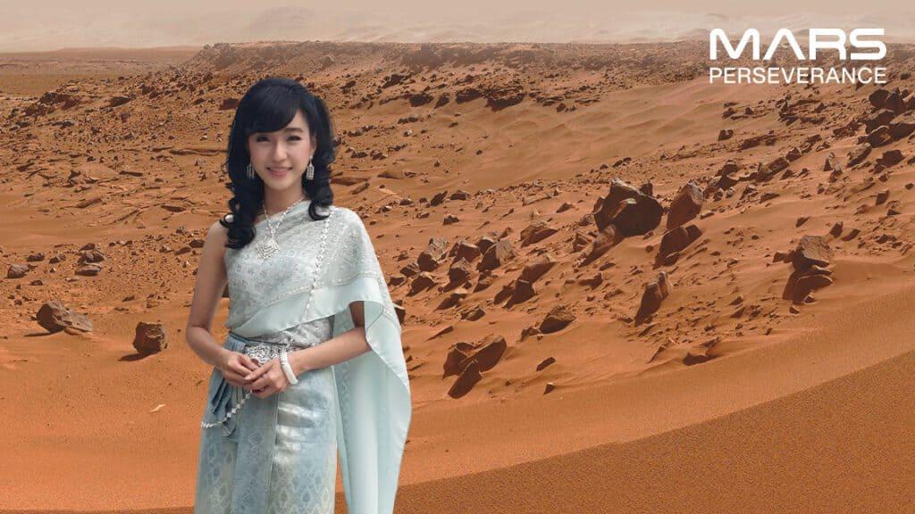 วิธีเซลฟี่บนดาวอังคาร - panraphee mars perseverance selfie