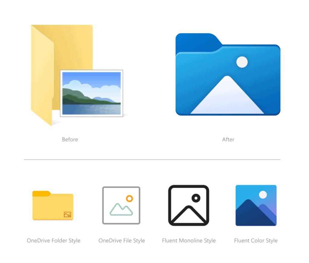 ไอคอนโฟลเดอร์ Windows10 จะปรับโฉมใหม่