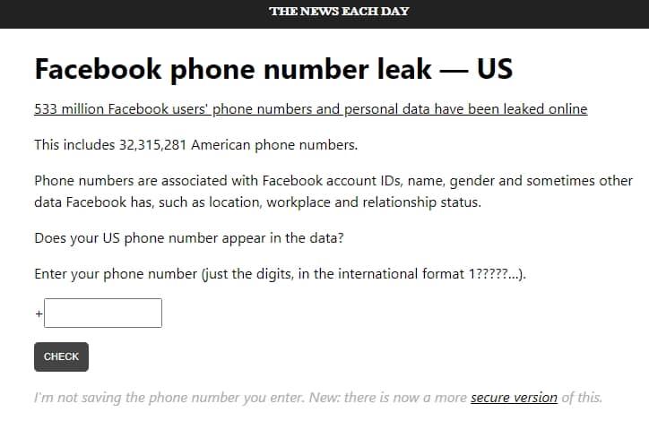วิธีตรวจสอบ facebook ของคุณ เป็น 1 ใน 533 ล้านบัญชี