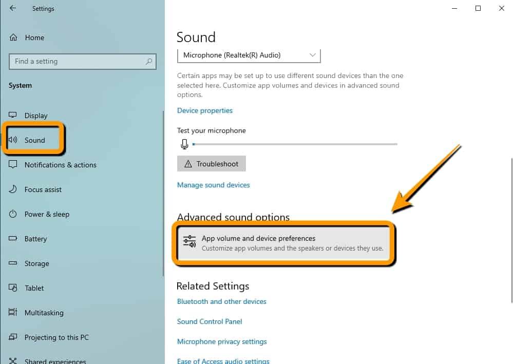วิธีตั้งค่าเสียงสำหรับแอปบน Windows10