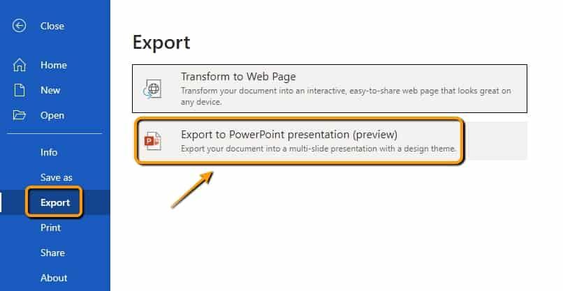 วิธีแปลงไฟล์ Word เป็น PowerPoint