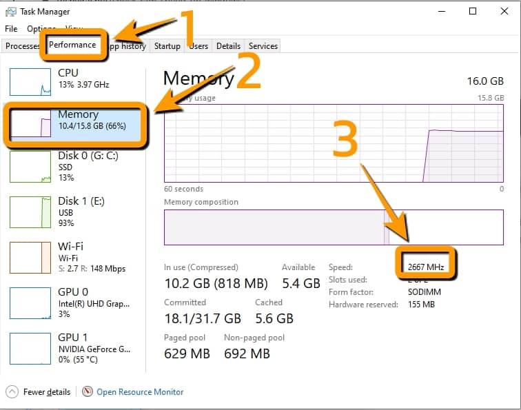 วิธีตรวจสอบความเร็ว RAM